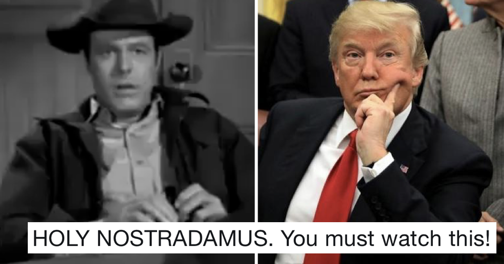This 1958 western featured a conman called Trump trying to build a wall and it's just uncanny