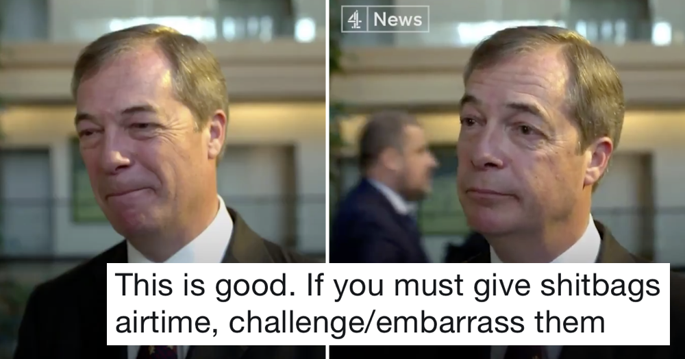 C4's brilliant takedown of Nigel Farage and his 'little plane' will have you cheering