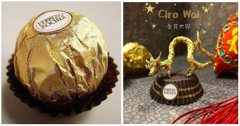 Ferrero Rocher foil art is the best excuse for eating chocolate