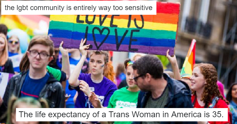 Someone said the LGBT+ community is too sensitive and these 17 takedowns set him straight