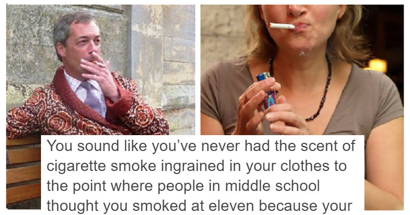 Someone suggested non-smokers are boring and got totally owned