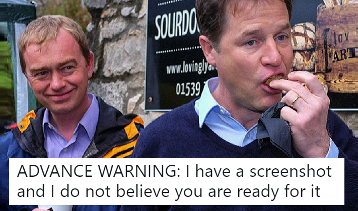 Tim Farron's cropped email heading was definitely not on brand