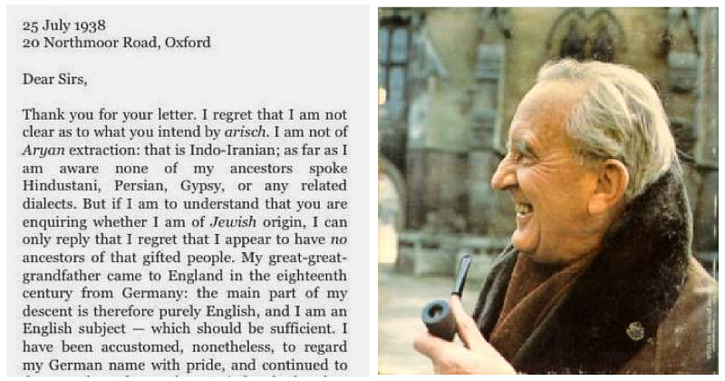 J.R.R. Tolkien's reply to the Nazis is a burn that has stood the test of time