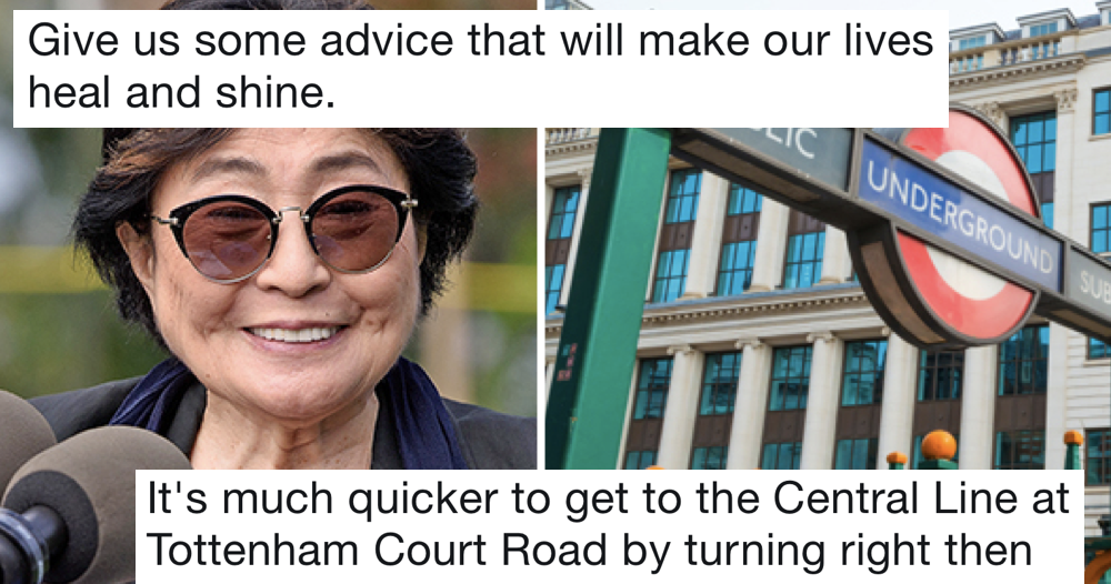 Yoko Ono Asked Twitter For Advice To Make Our Lives Better