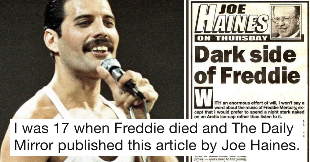 Matt Lucas shared this Daily Mirror column from when Freddie Mercury died and it shows just how far we've come