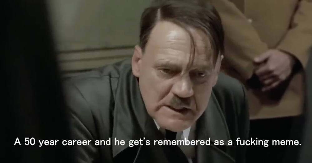 This tribute to Downfall actor Bruno Ganz is funny, touching and entirely appropriate.