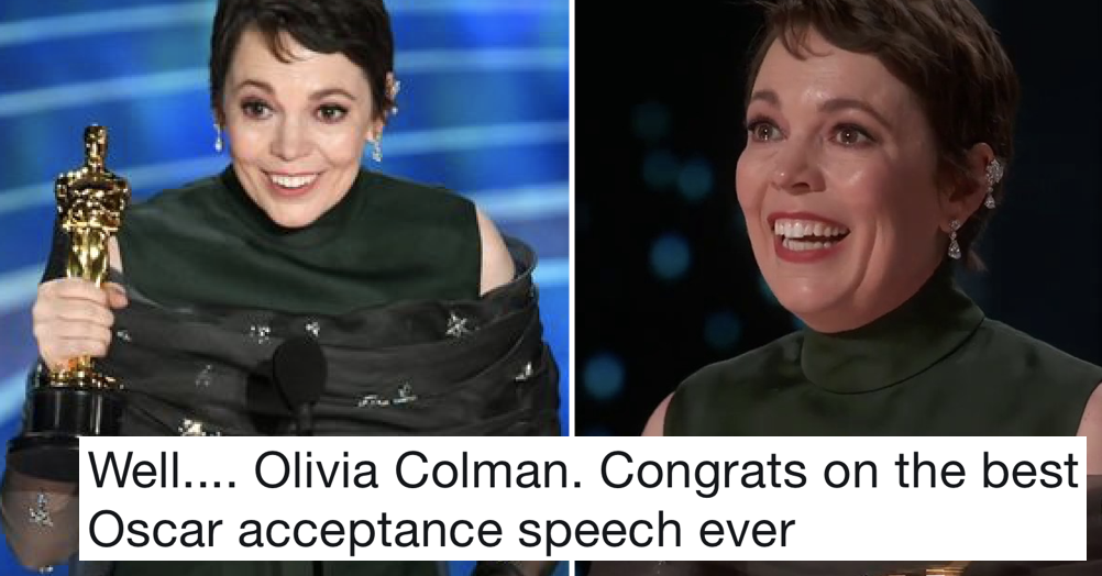 Olivia Colman just gave the best Oscar winner's speech and it deserves an award all of its own