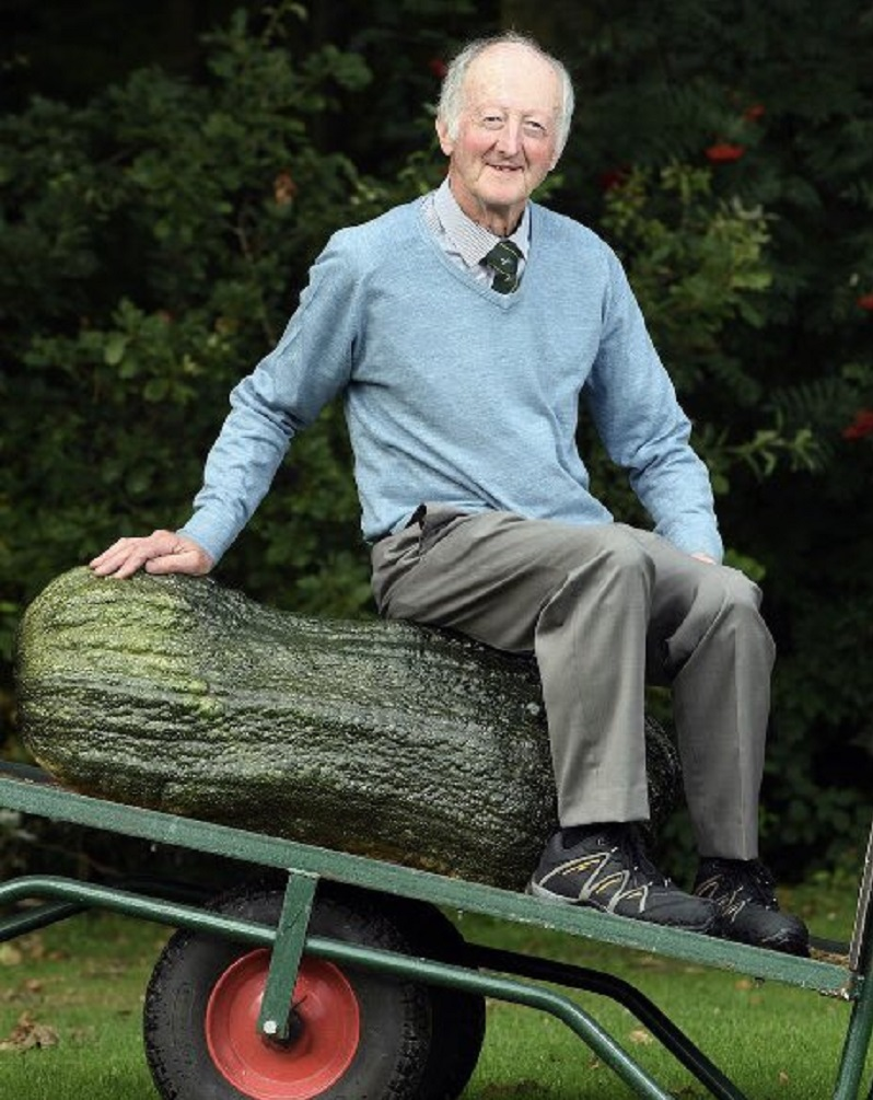 These images of one man with his giant vegetables are the most joyous thing on the internet