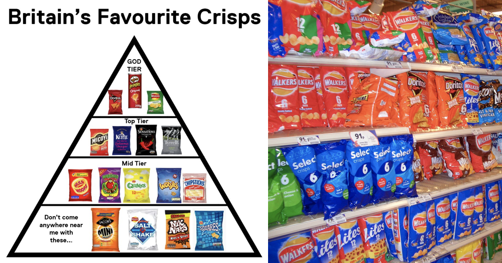 Channel 5 has ranked Britain's favourite crisps and it's fair to say not everyone's happy about it
