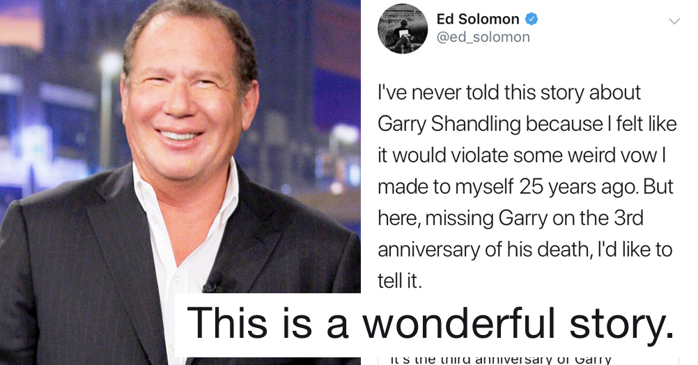 This Garry Shandling story is very funny and a great insight into a comedy legend