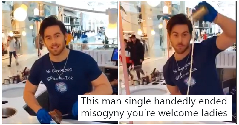 """This ice-cream seller's """"sexy"""" performance will make you cringe so hard"""