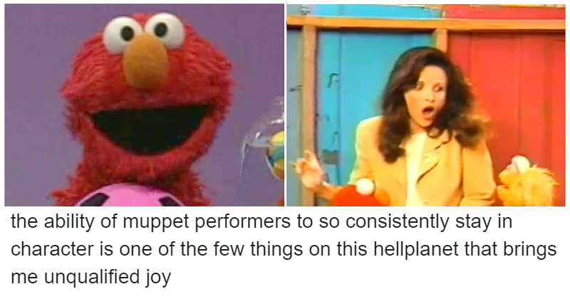 This outtake from Sesame Street proves that Elmo is as wholesome as you'd expect