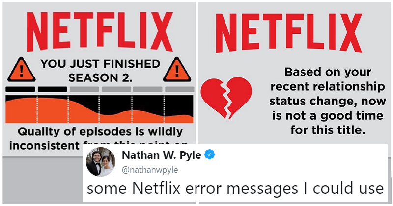 These Netflix error messages are so much better than the