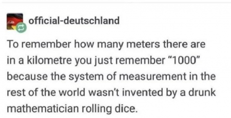 The imperial system of measurement just got owned by metric and it's