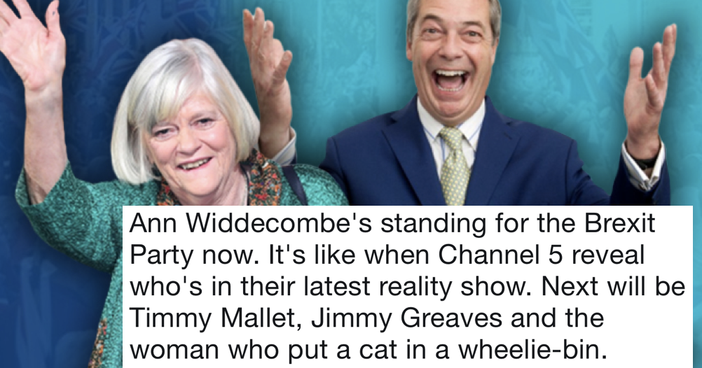 Ann Widdecombe's going to stand for Nigel Farage's Brexit party - only 11 responses you need