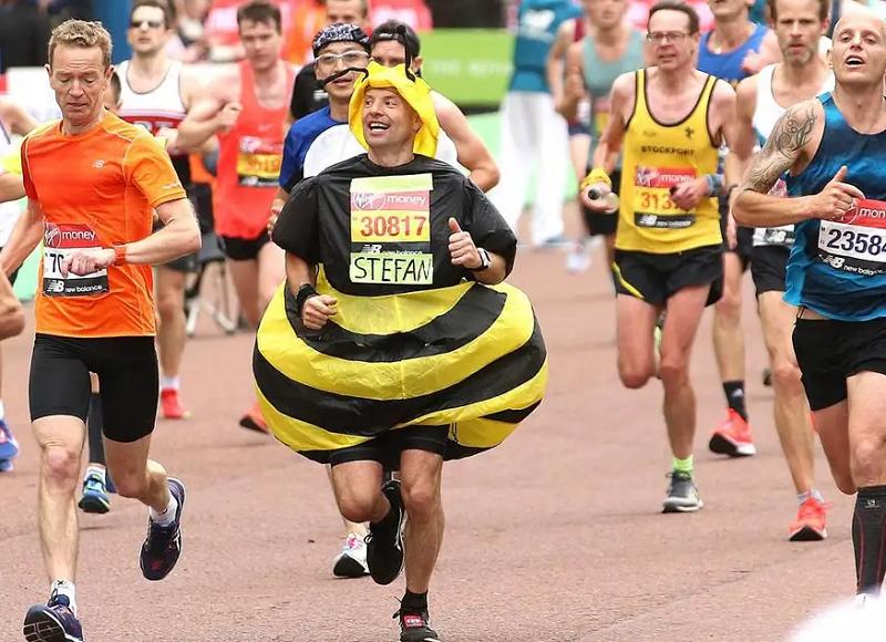 Disaster almost struck for 'Big Ben' at the London marathon finishing line