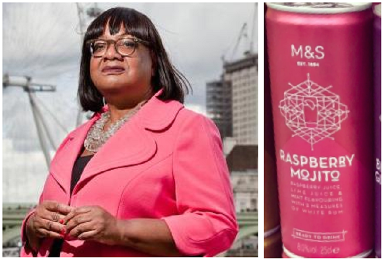 """Celebrities as things"" has peaked with Diane Abbott as M&S canned cocktails"