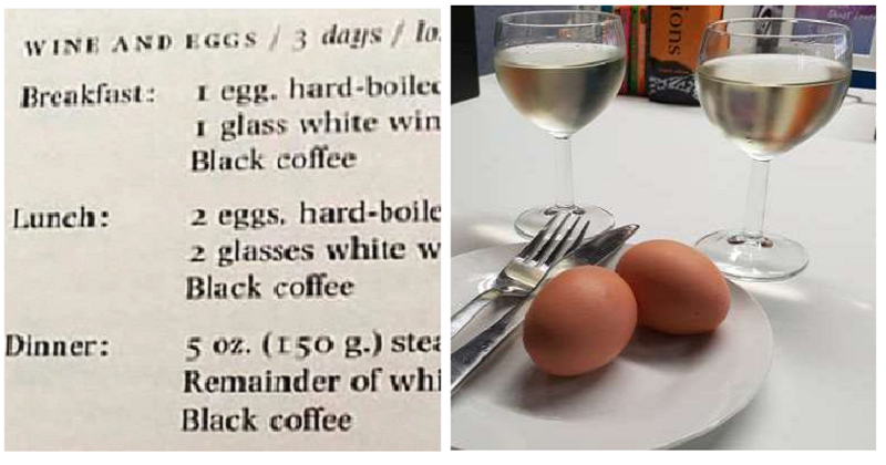 "There was a ""wine and eggs"" diet in the 70s and it did NOT ..."