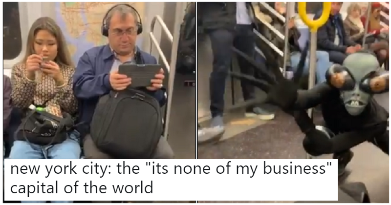 This viral clip of a performance on the subway is peak New York