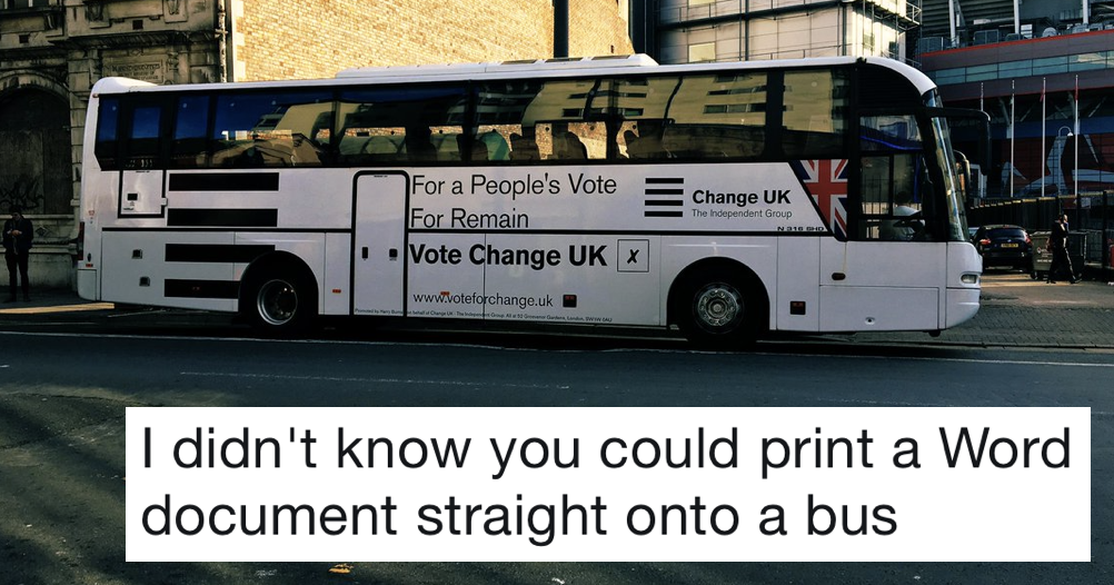 Image result for change uk election bus