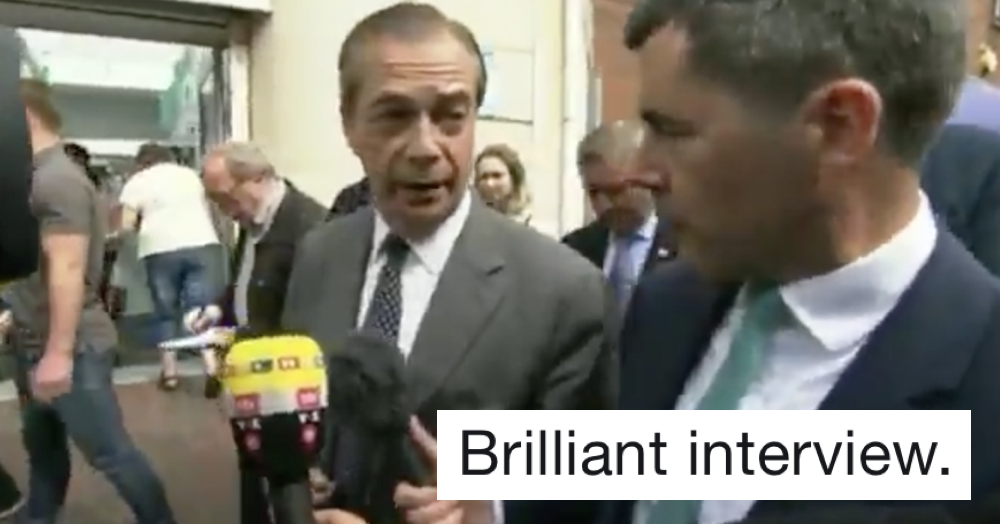 This Welsh TV reporter destroying Nigel Farage is the best 95 seconds you'll spend today
