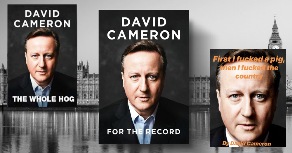 Simply 23 funny responses to David Cameron's memoirs which will be called 'For The Record'