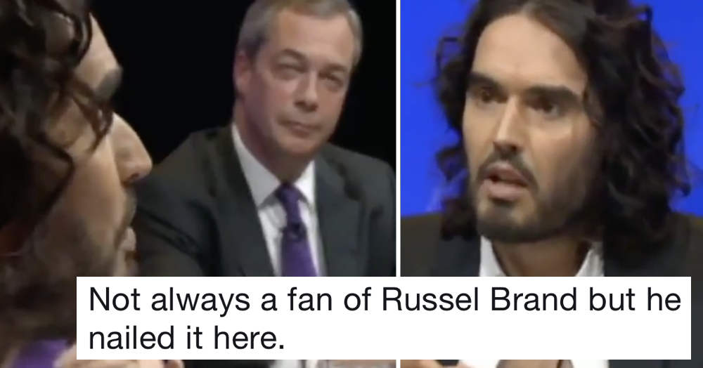 This Russell Brand takedown of Nigel Farage went viral all over again because it's never been more relevant
