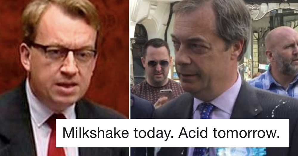 Simply 7 fabulous responses to this DUP politician's condemnation of the Nigel Farage milkshake attack