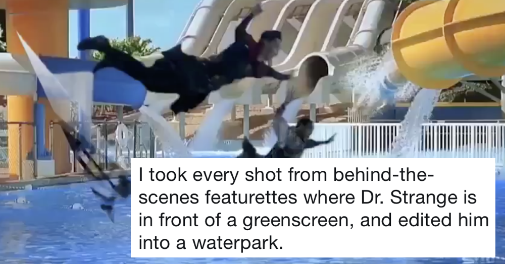 One year since this guy put Dr Strange into a waterpark and it's still brilliant
