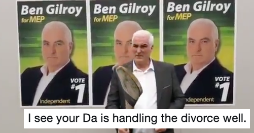 This Irish MEP hopeful's campaign video went viral but not for reasons he'd have hoped