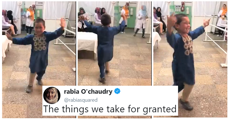 This viral clip of a little boy dancing on his new prosthetic leg is simply joyous