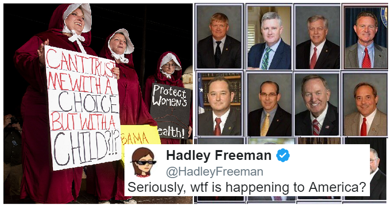 The legislators who made abortion illegal in Alabama are all men – the internet reacts