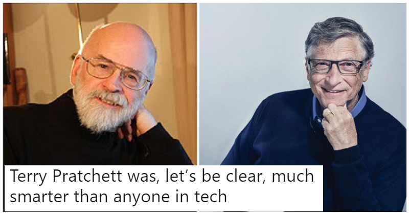 "Terry Pratchett predicted ""fake news"" in 1995 and Bill Gates explained why he was ""wrong"""