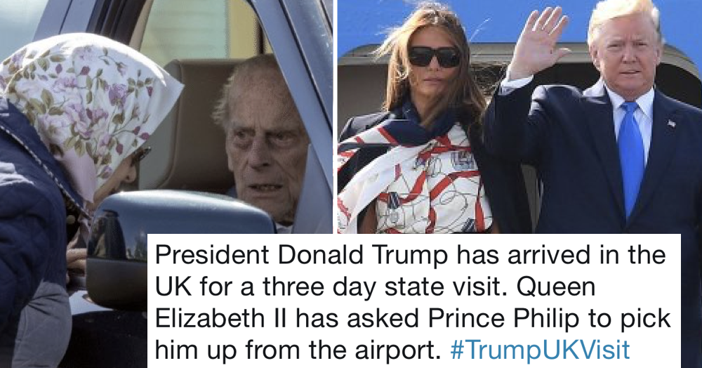 Simply 21 funny tweets about Donald Trump's state visit to the UK