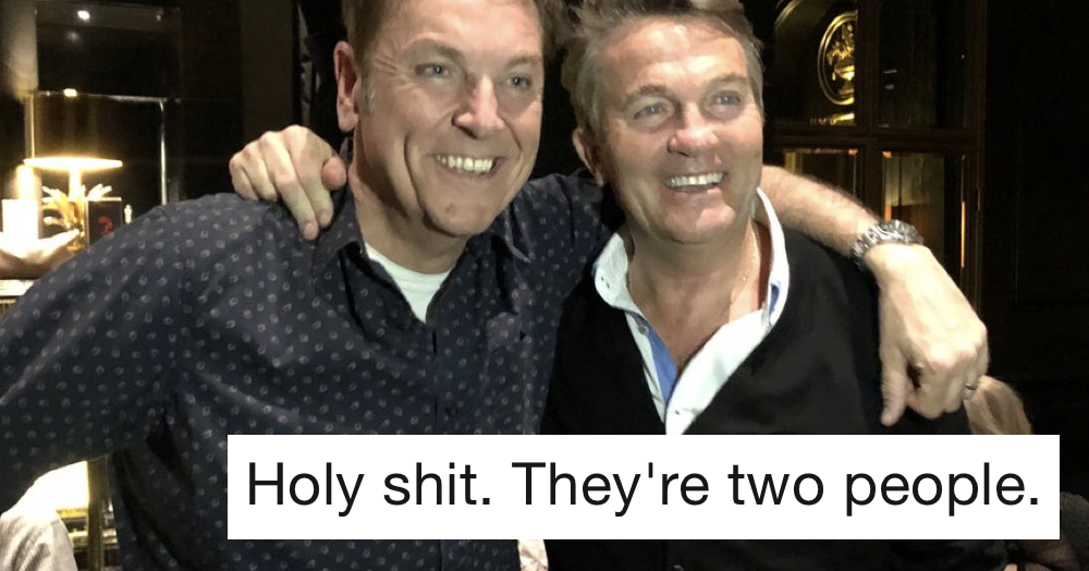 Turns out Bradley Walsh and Brian Conley are two different people and minds are blown