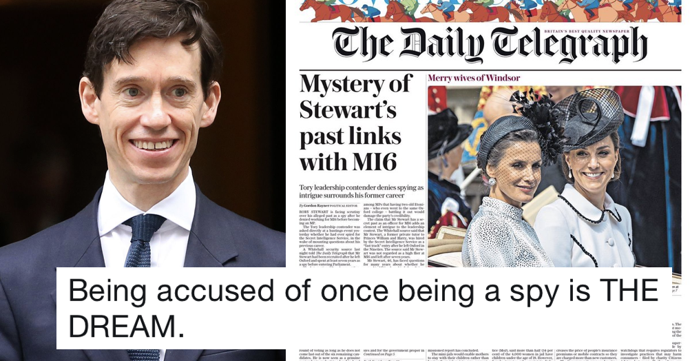 The Telegraph said Rory Stewart used to be a spy – the only 11 responses you need