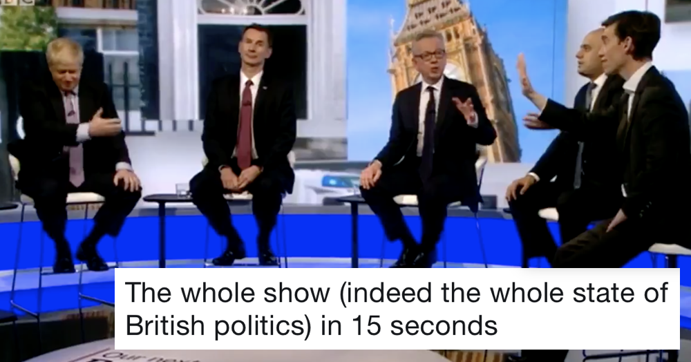 This 15 seconds from the Tory leader debate totally nails the state we're in