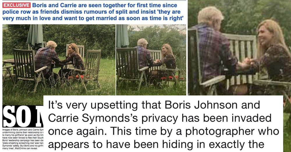 The Mail Had The First Post Row Picture Of Boris Johnson And Carrie