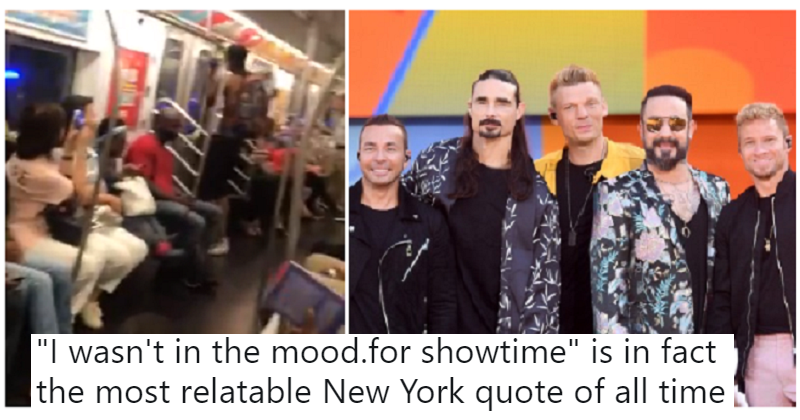 The moment a load of New Yorkers sang a Backstreet Boys hit on the subway is quite heartwarming