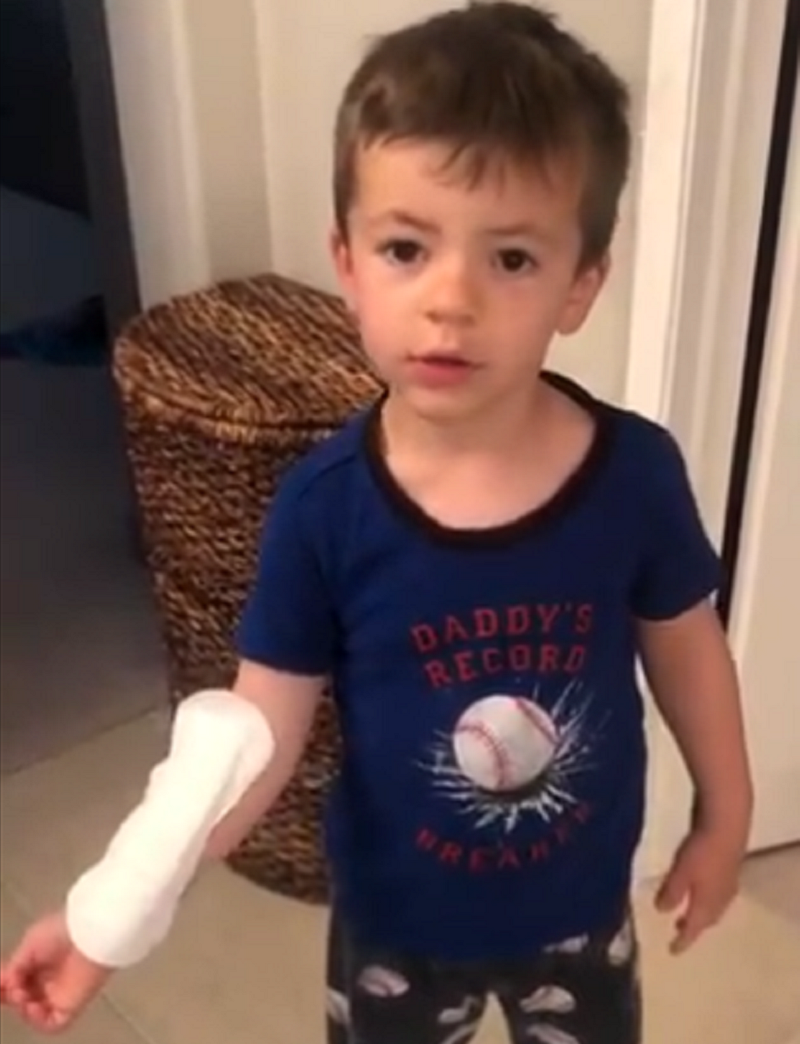 """This little boy and his """"big Band-Aid"""" have gone viral because that's not a Band-Aid"""