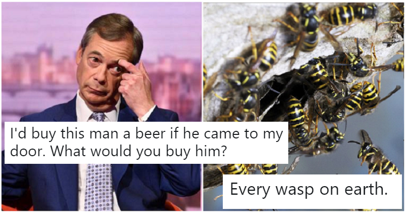People are suggesting things to buy for Nigel Farage – 12 apt suggestions