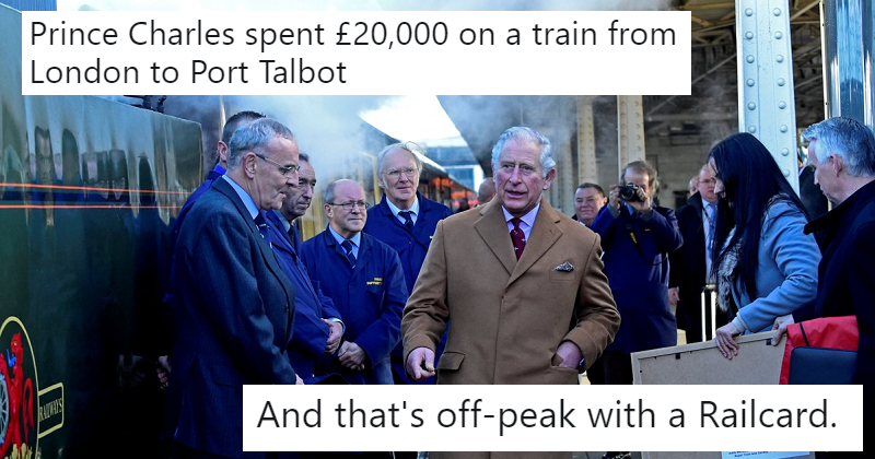 It cost £20K for Prince Charles' train journey and everybody made the same joke – our 12 favourites
