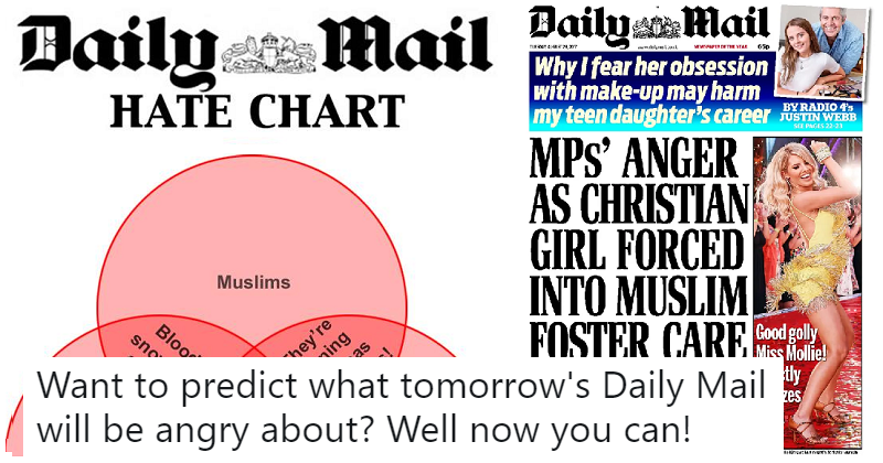 This Daily Mail    Hate    Chart is the    Venn       Diagram    of the Day The Poke