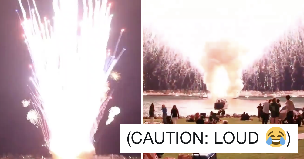 It's 7 years since San Diego accidentally set all their fireworks off at once and it's epic