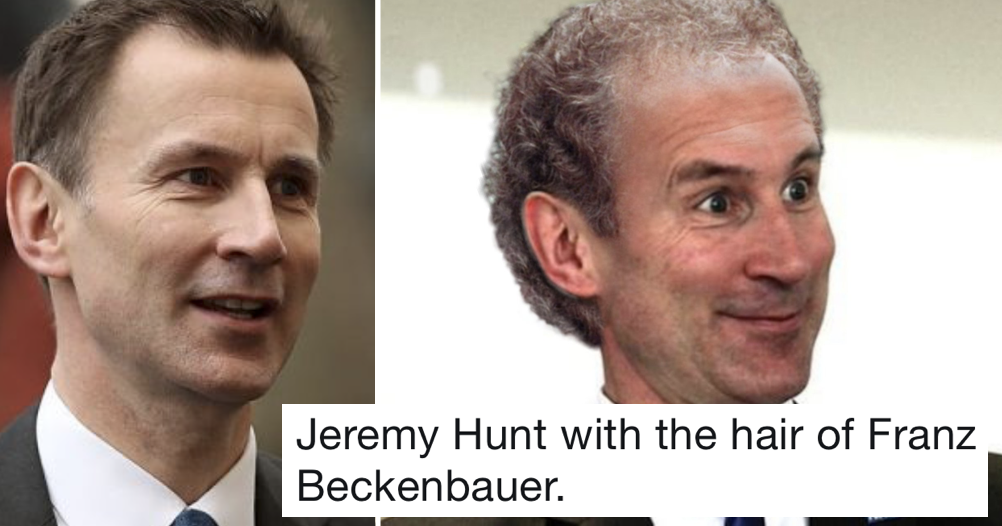 'Football manager hair on politicians' is today's best thread