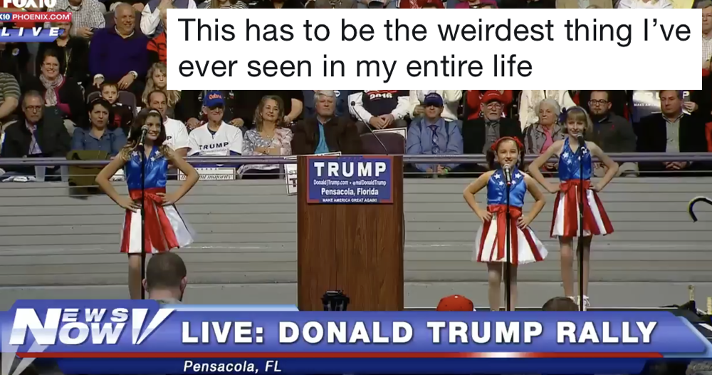 These kids performing at a Donald Trump rally really does have to be seen to be believed
