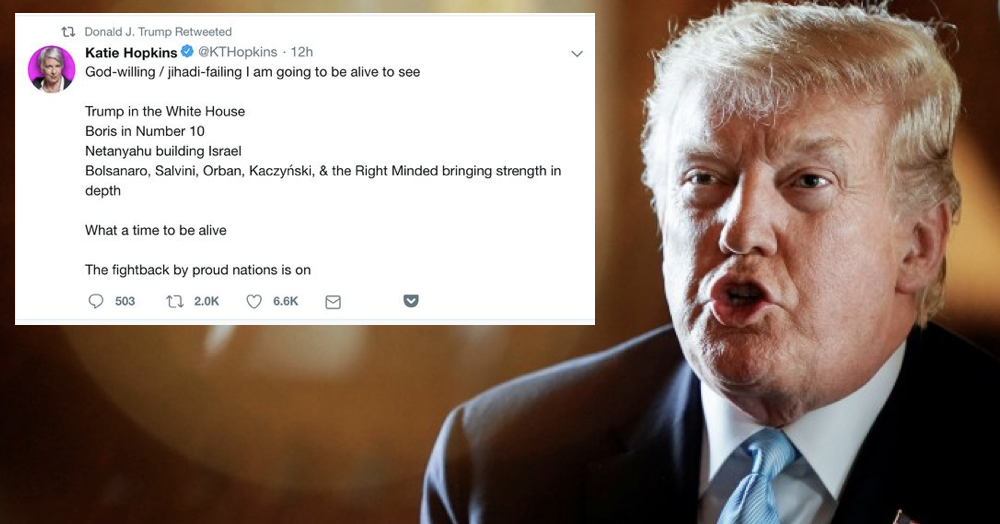 Donald Trump's been retweeting Katie Hopkins again – only 4 replies you need