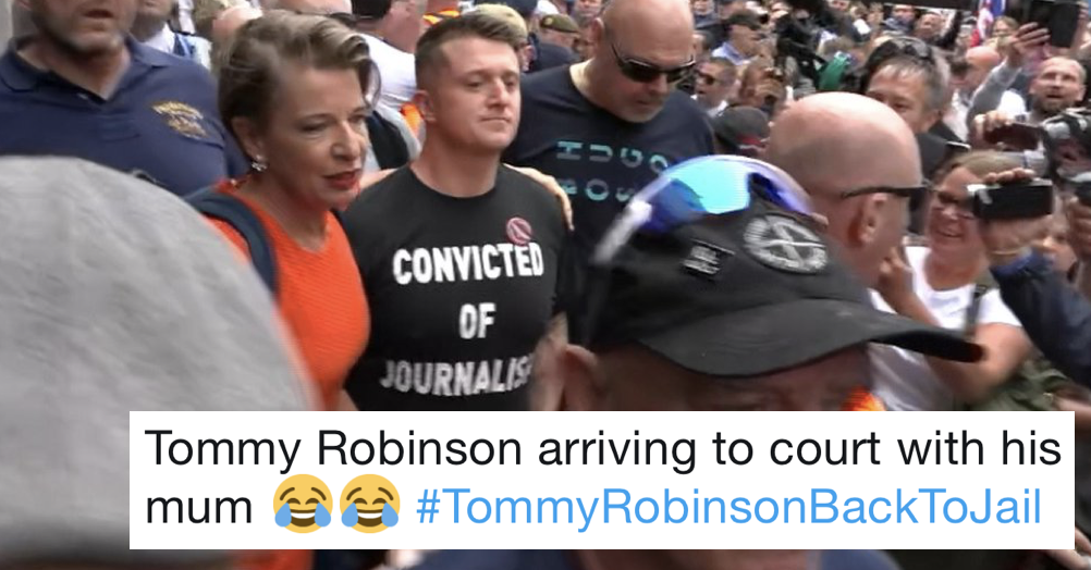 Tommy Robinson was jailed for 9 months so here are 9 favourite tweets about his conviction for contempt of court