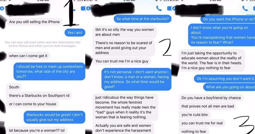 Women afraid of men