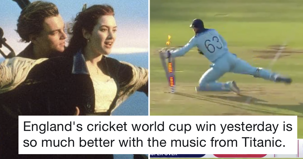 The moment of England's World Cup win set to the Titanic theme his hilarious and heartbreaking